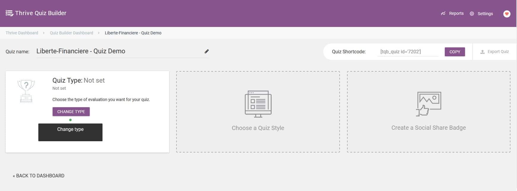 Thrive Quiz Builder - Accéder au framework de votre Quiz