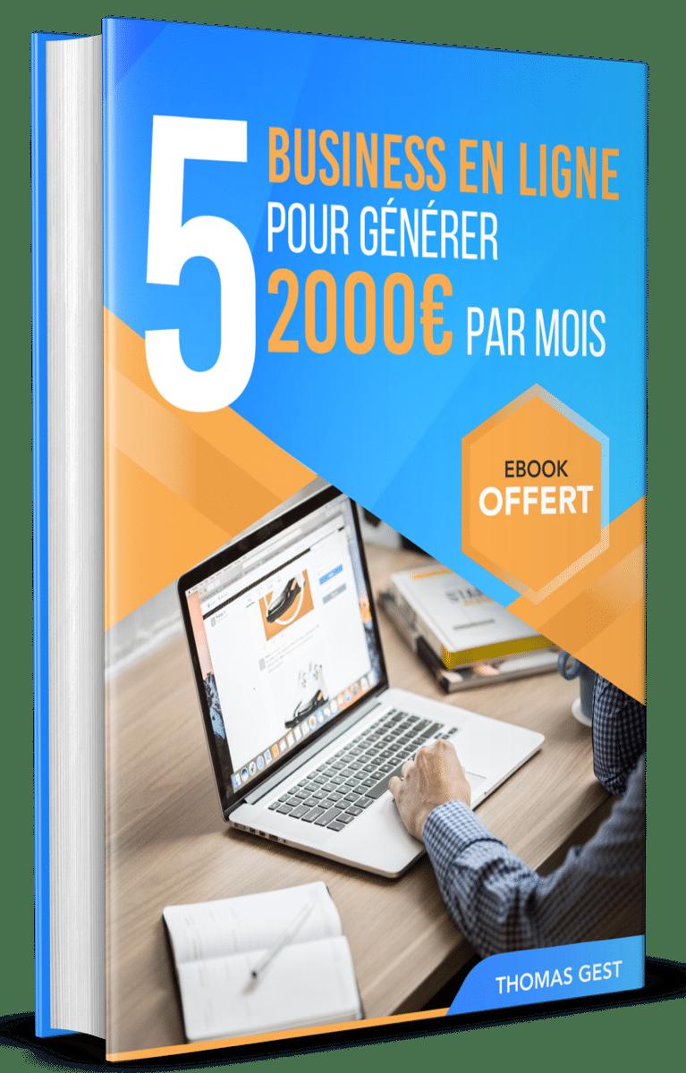 5 business en ligne pour générer 2000 euros pars mois