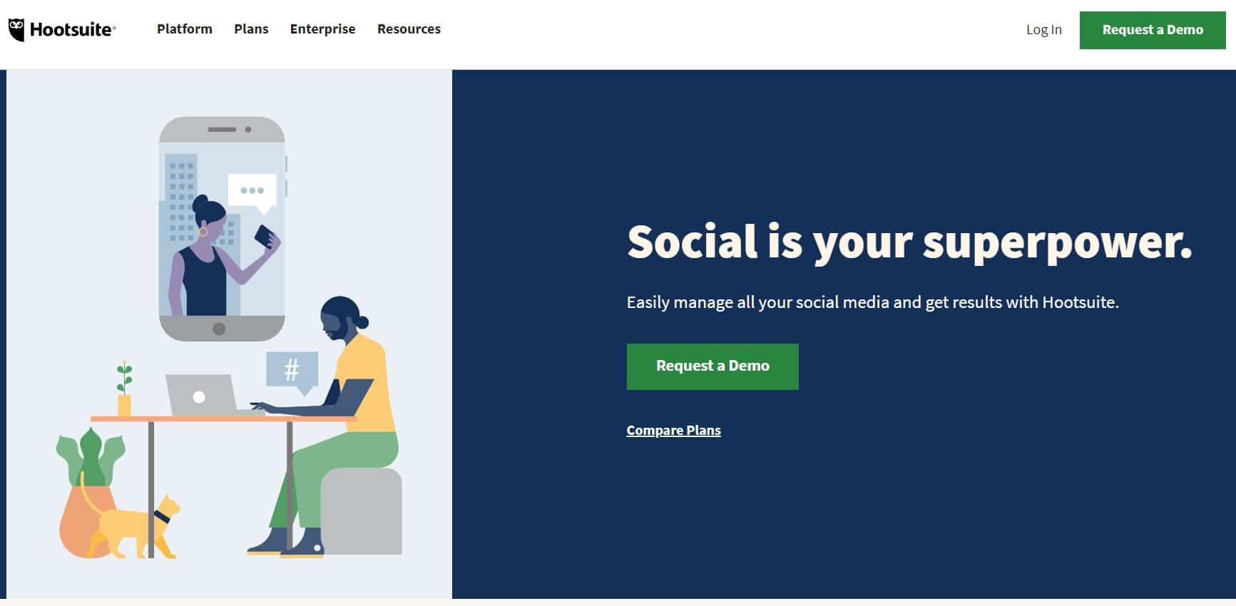 Hootsuite , gérer jusqu'à 3 comptes de réseaux sociaux au même endroit !