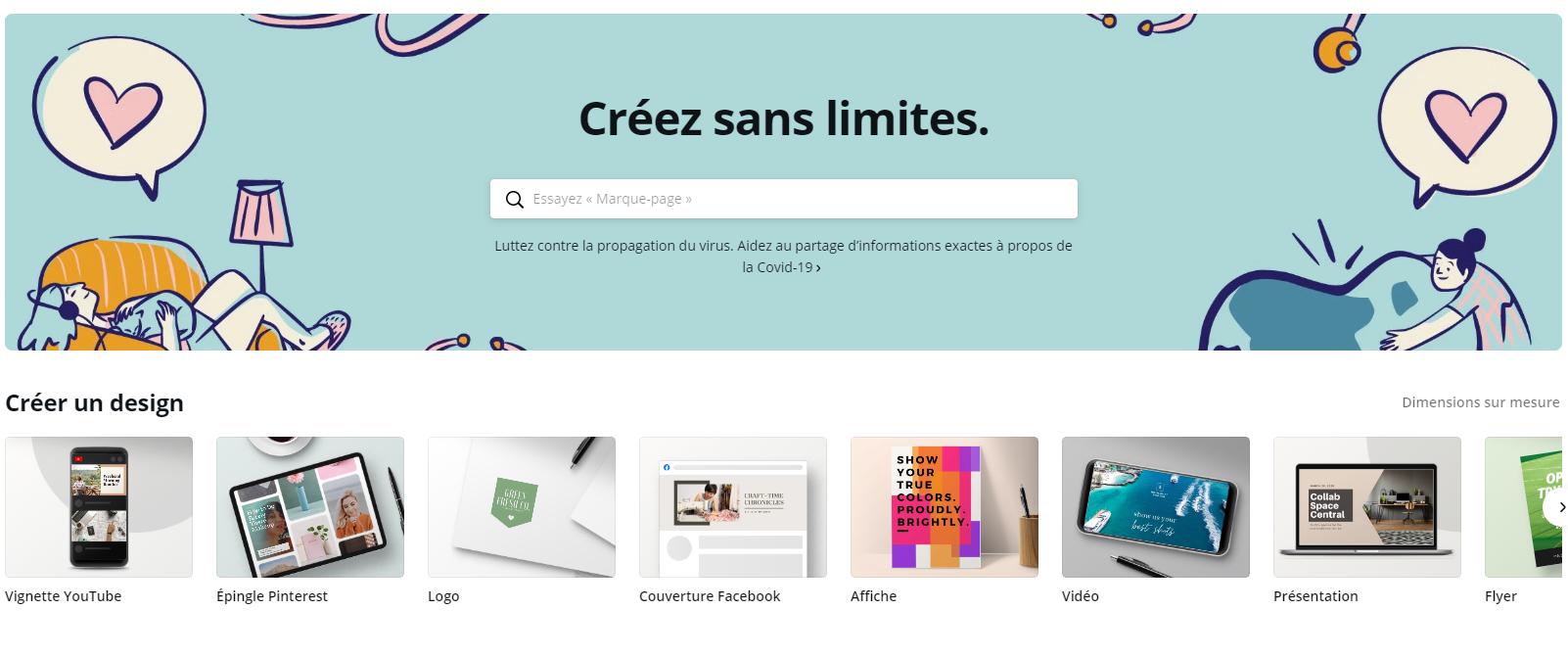 Canva - outil gratuit de conception d'images pour  les réseaux sociaux