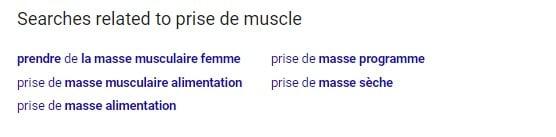 google recherche associées