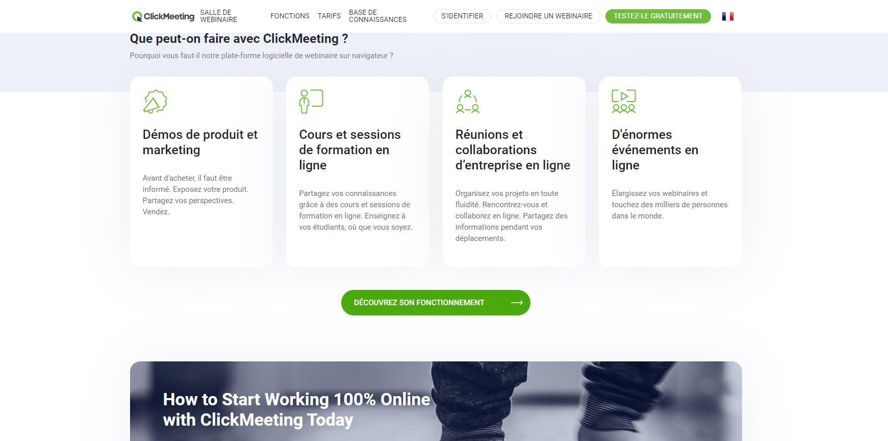Organisez vos webinaires avec ClickMeeting