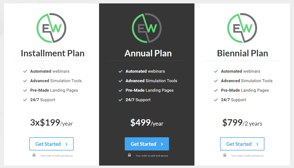 Les tarifs de EverWebinar