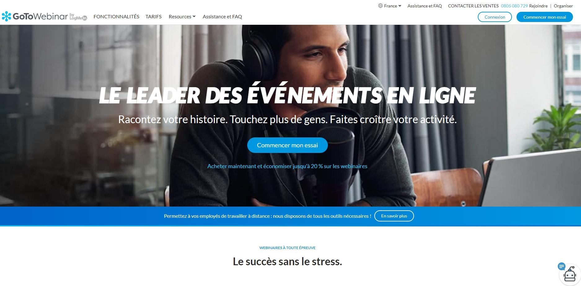 GoToWebinar, le meilleur logiciel de webinaire pour les entreprises