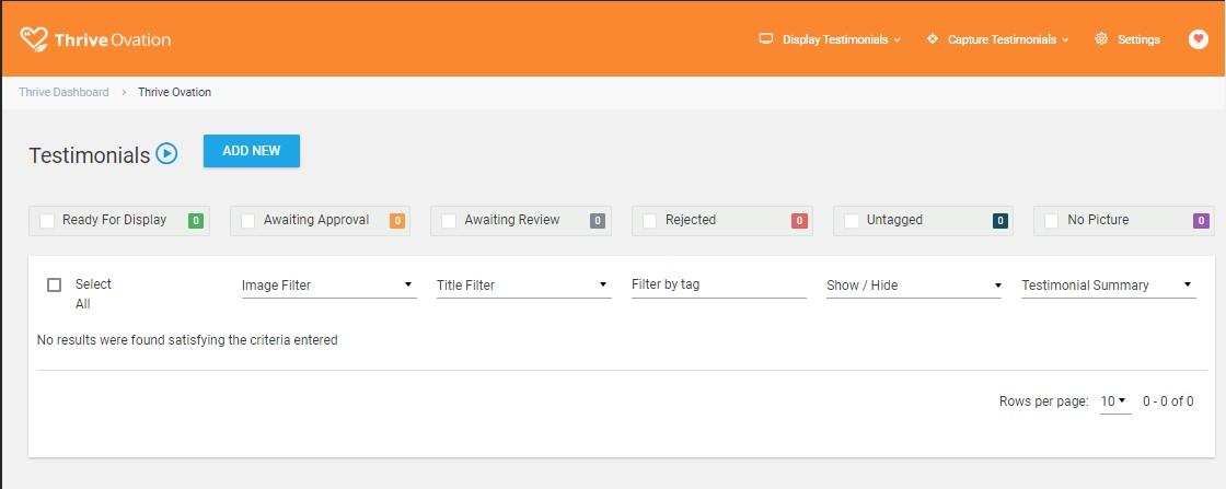 Thrive Ovation,  transformer vos commentaires positifs en témoignage client