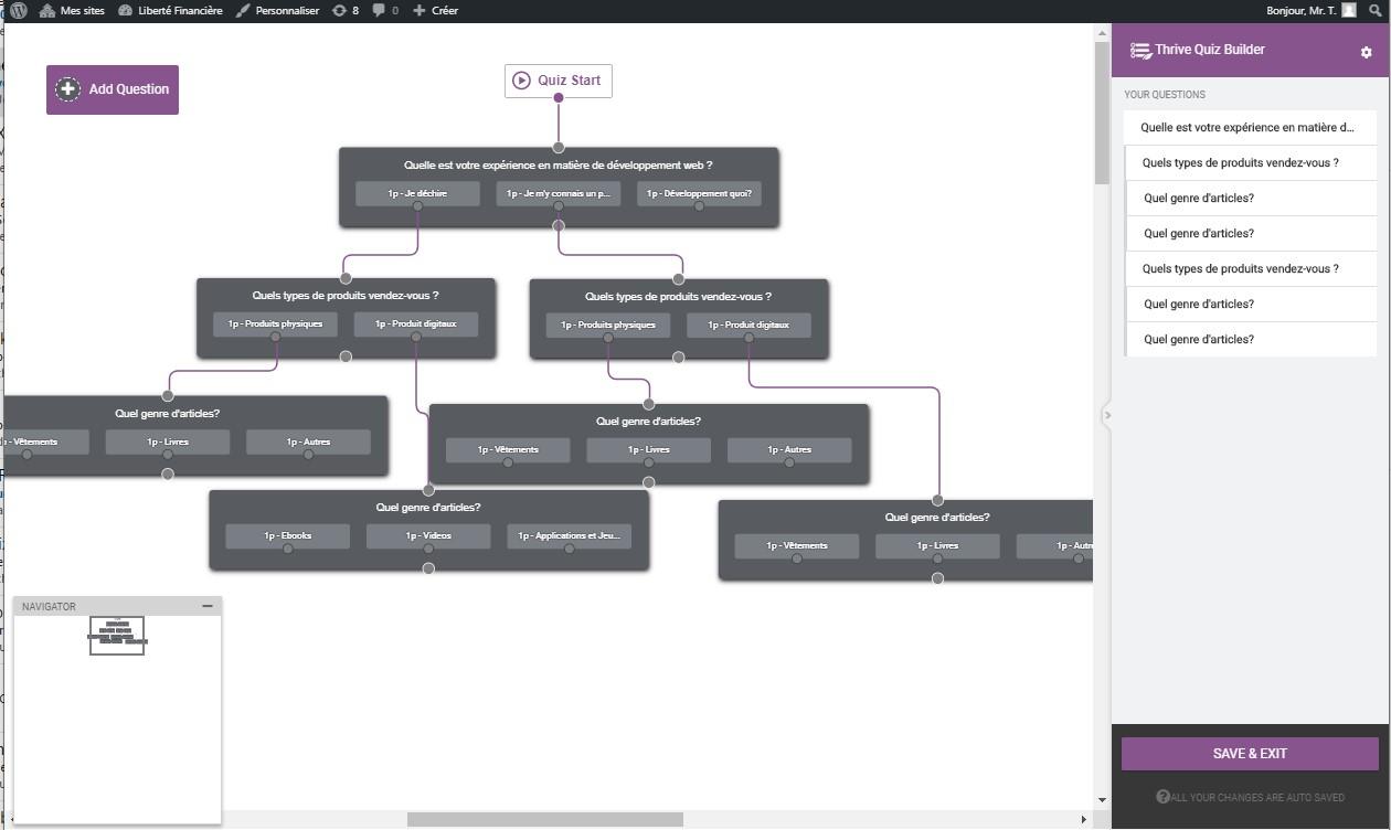 Thrive QUiz Builder, concevez visuellement et facilement votre quiz