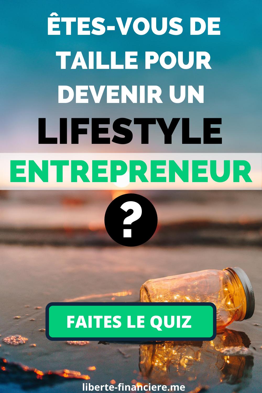 Lifestyle Entrepreneur - le Quiz
