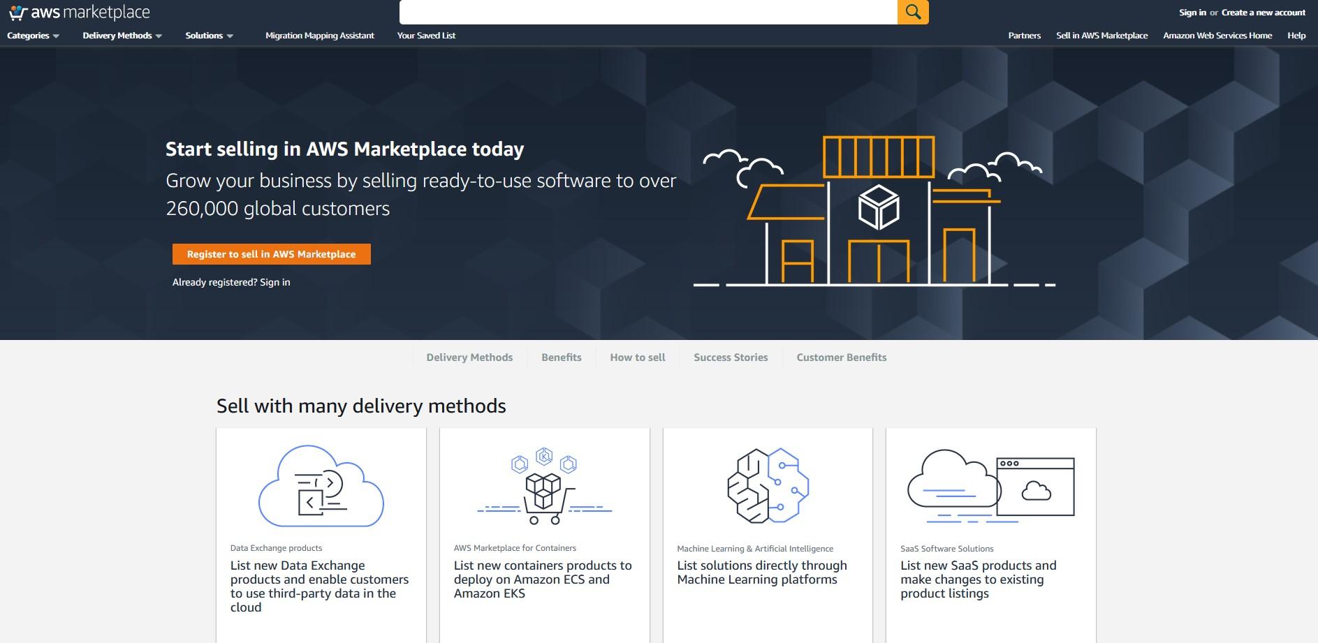 Gagner de l'argent avec Amazon AWS Marketplace