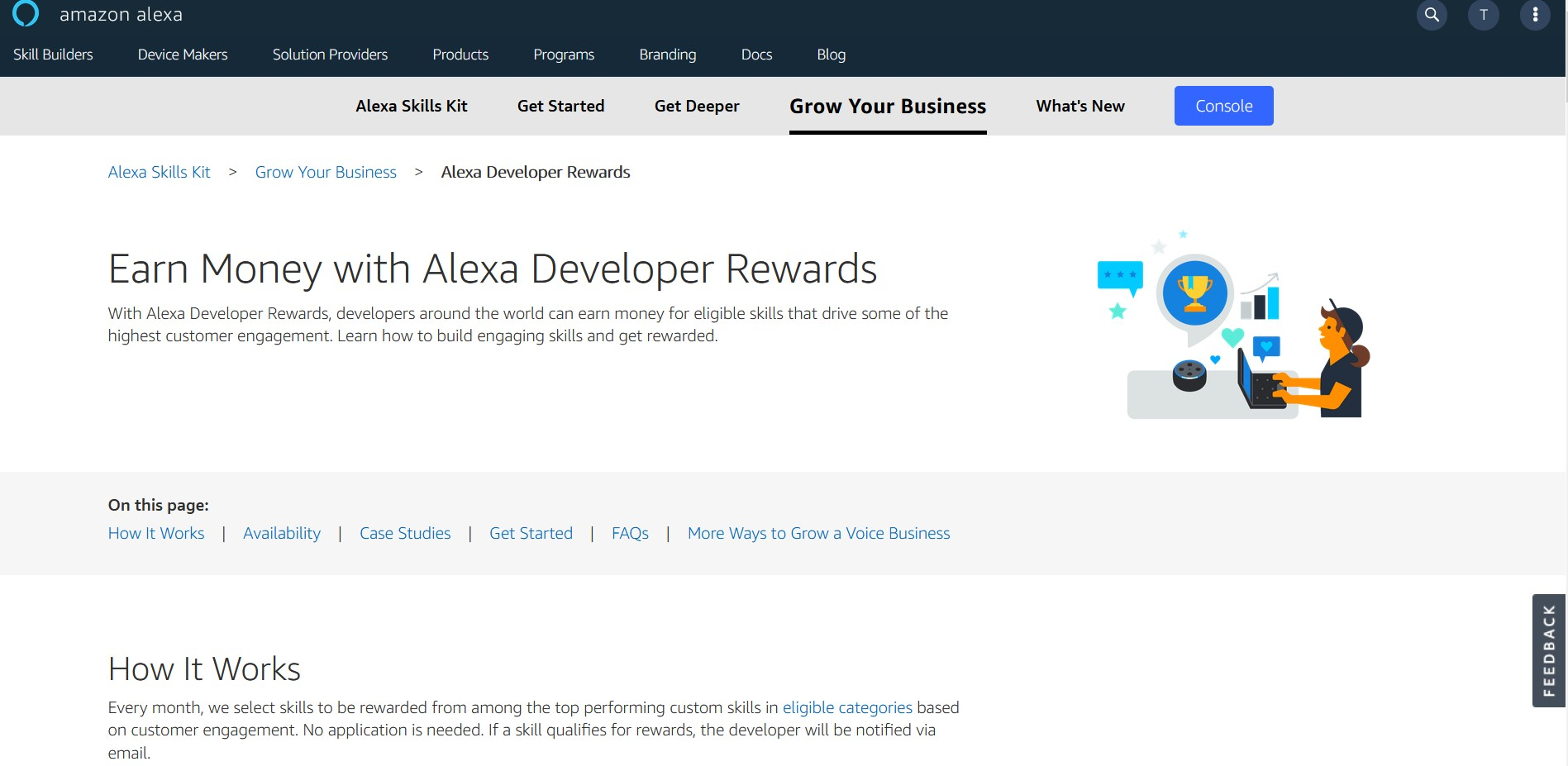 Gagner de l'argent avec Amazon Alexa Developer Rewards