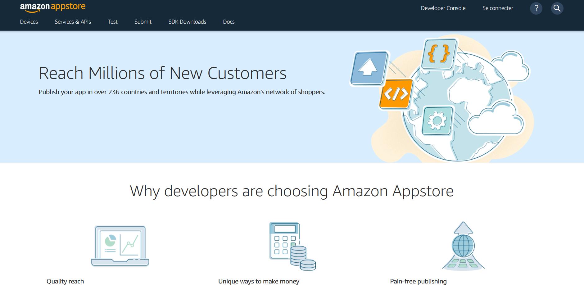 Gagnez de l'argent avec Amazon Appstore