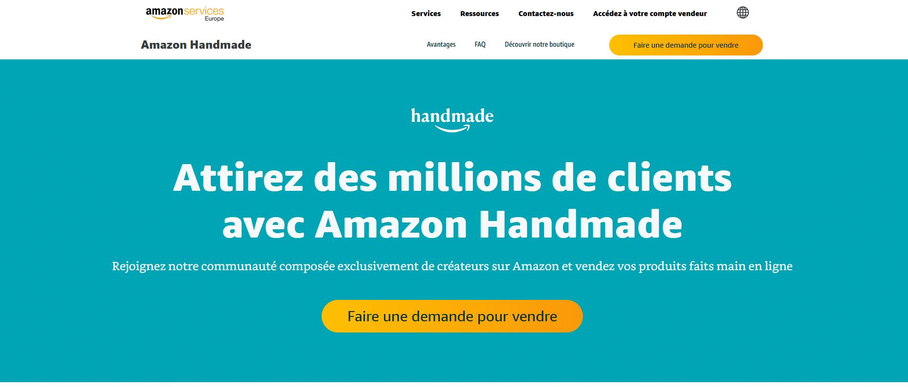 Gagner de l'argent avec Amazon Handmade. le bon plan pour les créateurs