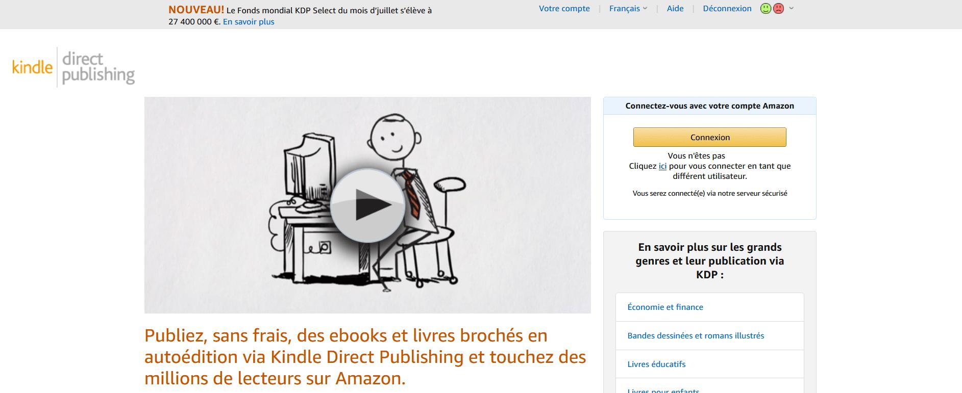 Gagner de l'argent sur Amazon avec Kindle Direct Publishing (KDP)