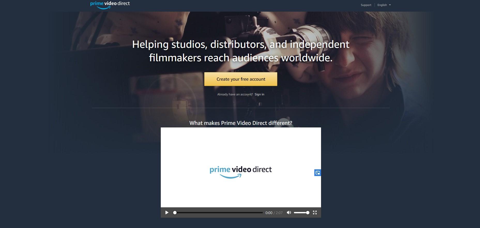 Diffusez vos vidéos sur Prime Video Direct et gagnez de l'argent