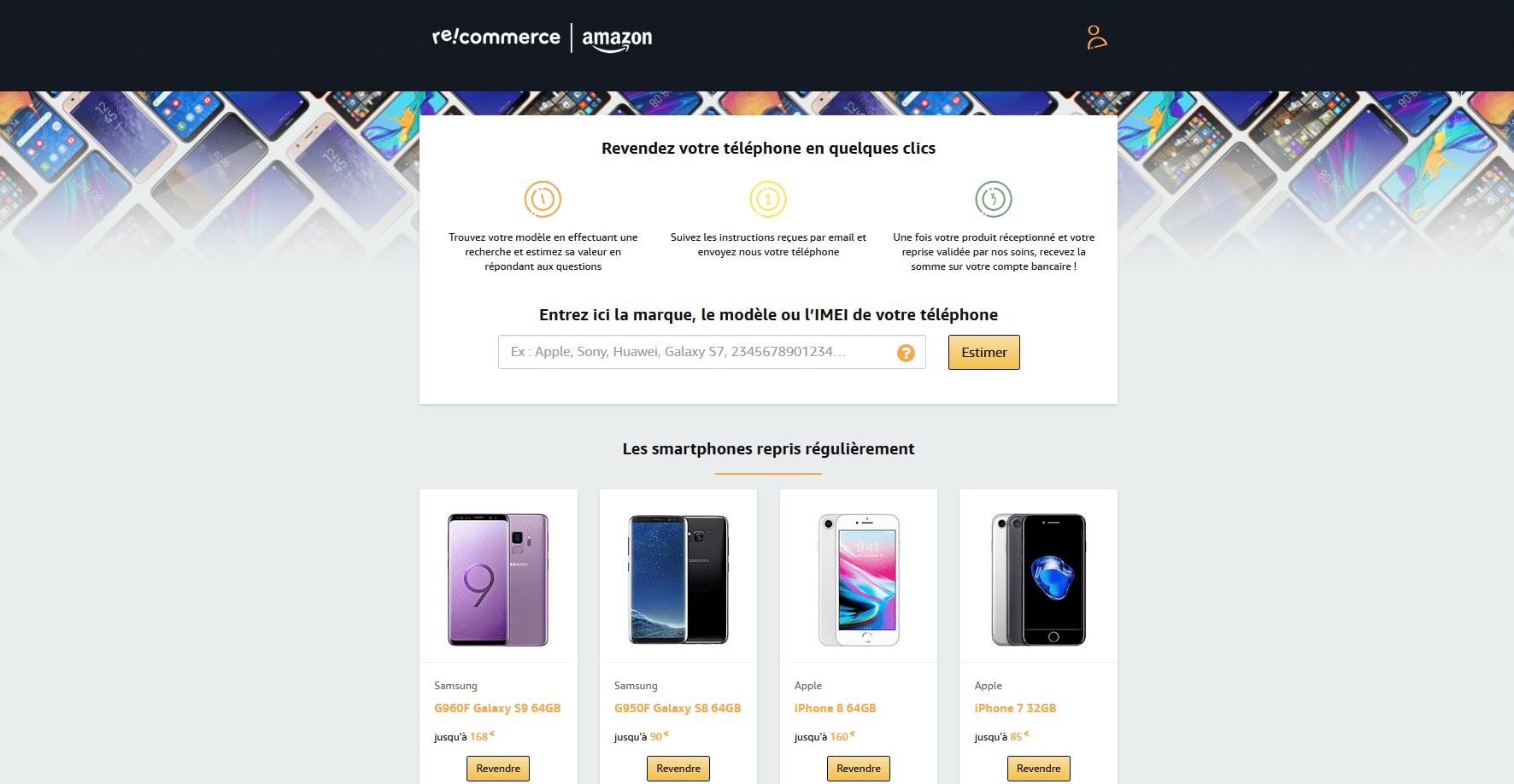 Gagnez de l'argent sur Amzon en vendant vos anciers smartphones sur Recommerce