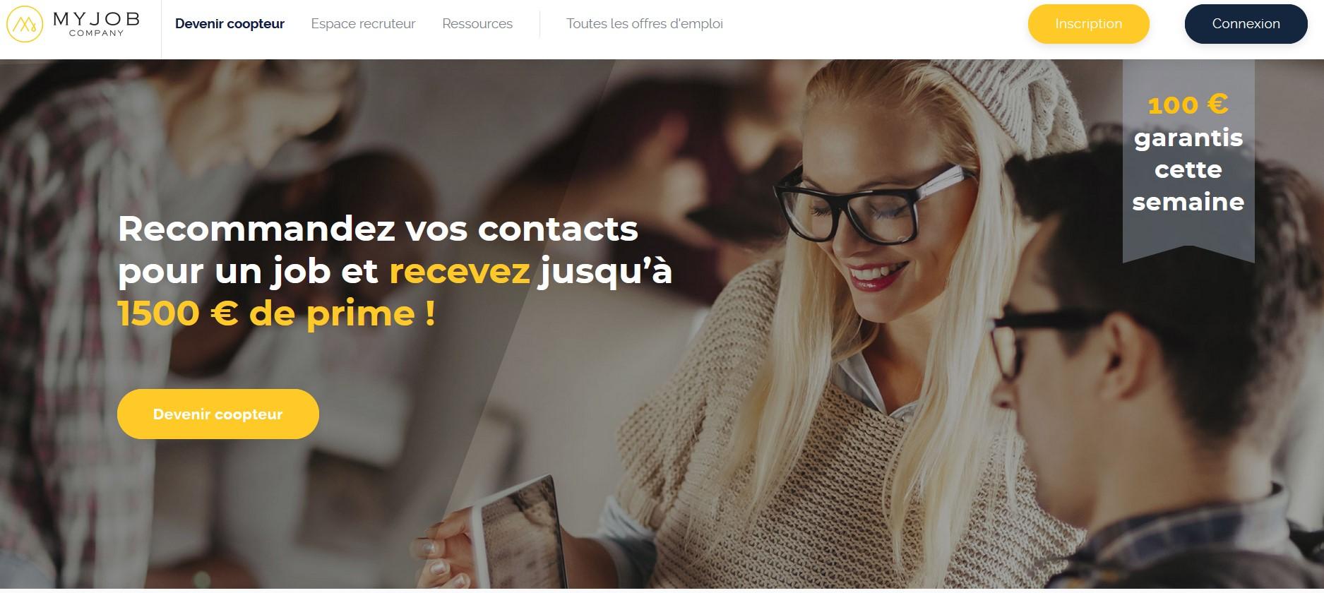 MyJobCompany - Gagner de l'argent en cooptant vos contacts