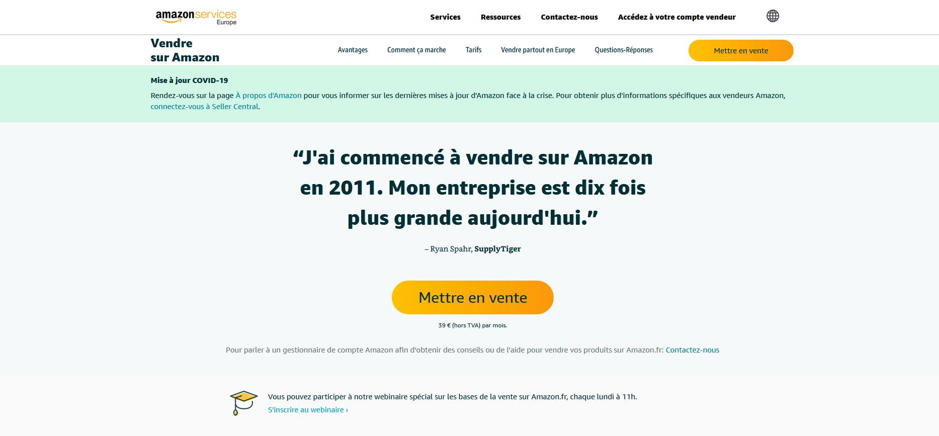 Gagnez de l'argent en devenant Vendeur Amazon