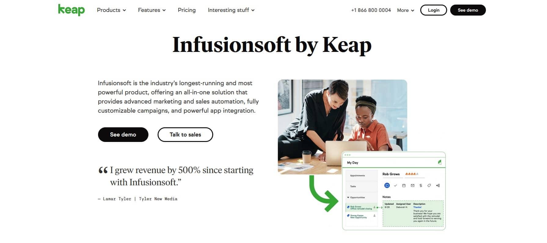 ClickFunnels vs InfusionSoft by Keap, avantages et inconvénients