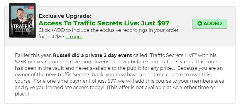 Les lives enregistrés des présentations du livre Traffic Secrets