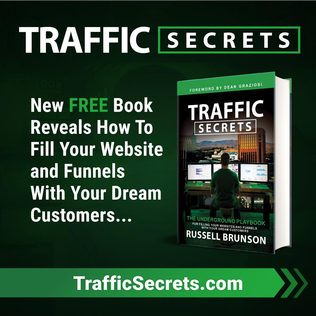 Le livre Traffic Secrets est gratuit (free+shipping)