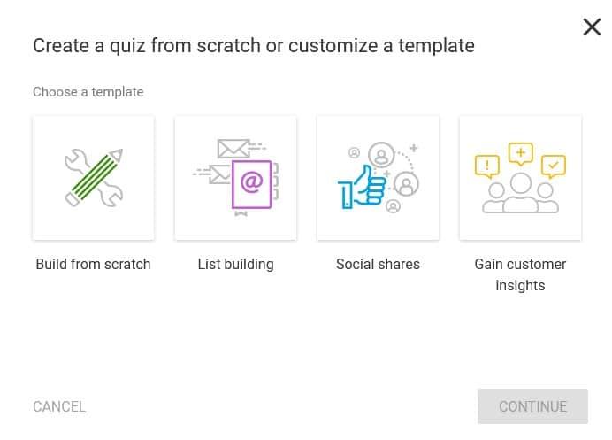Thrive Quiz Builder - Créer un nouveau quiz