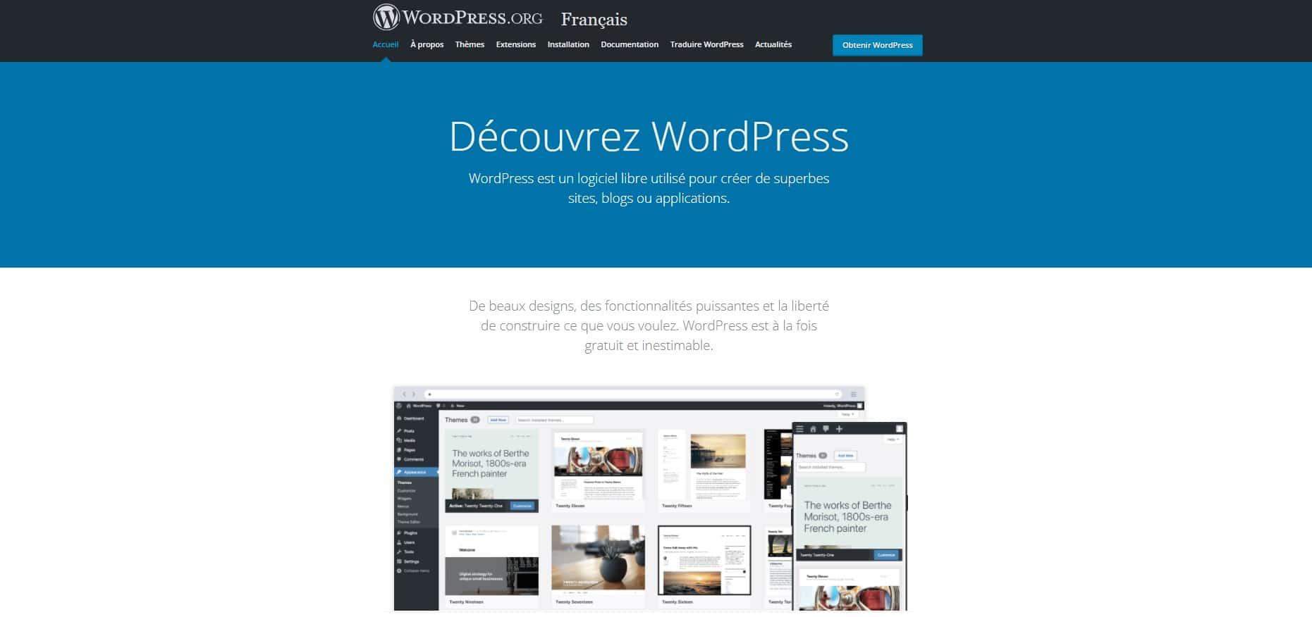 Utiliser WordPress pour créer le site web de votre activité de Drop Servicing
